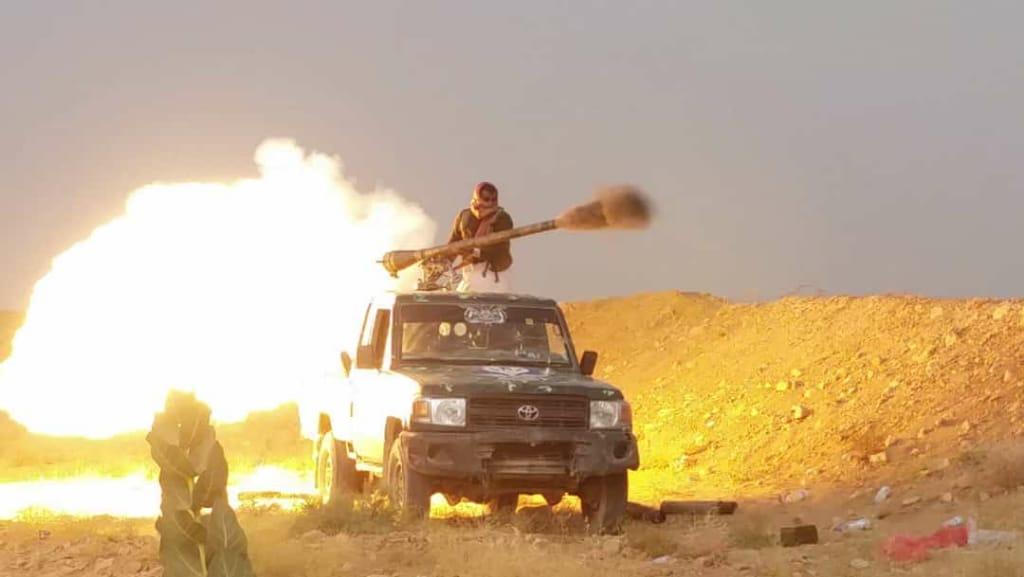 إسقاط مسيرة حوثية شرق الجوف وتدمير تعزيزات غرب مأرب