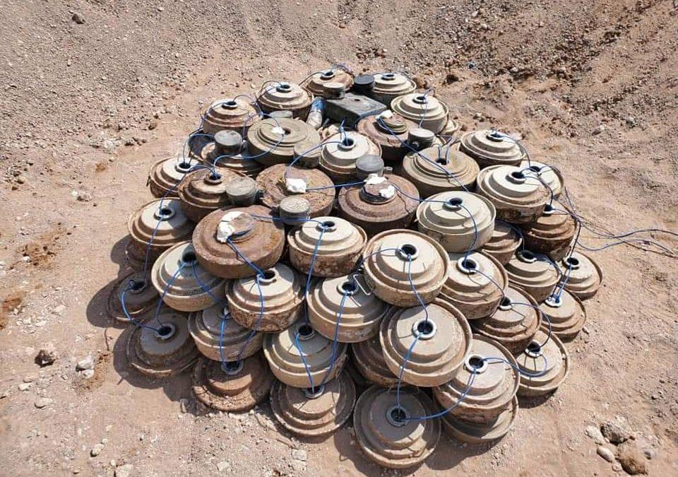 إتلاف 2200 من الألغام التي زرعتها مليشيا الحوثي في المناطق المحررة بتعز والحديدة