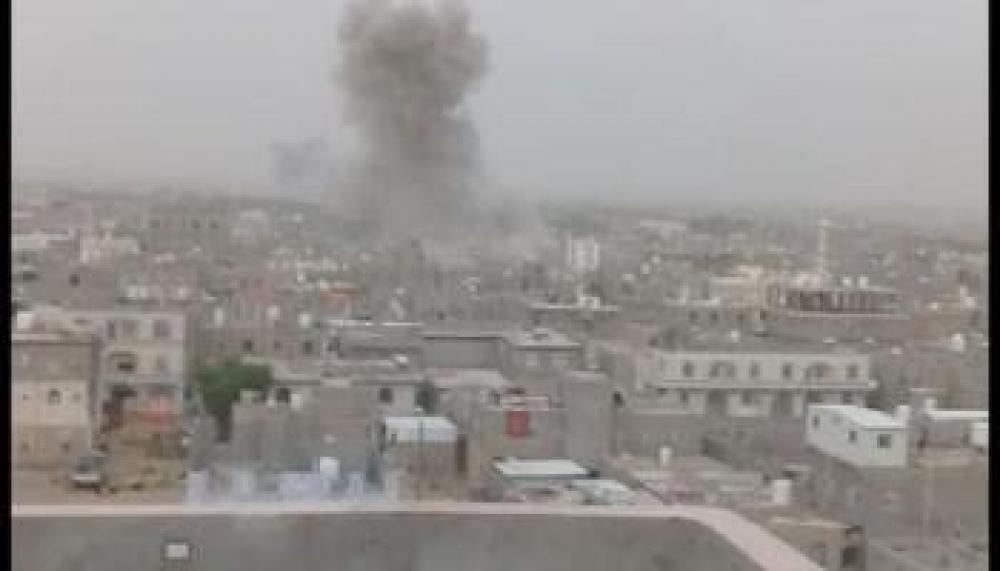 مأرب…صاروخ حوثي يستهدف حي الروضة