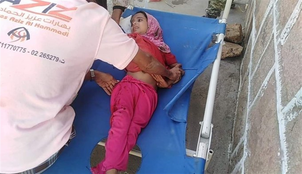 إصابة طفلة بقصف للحوثيين غربي تعز