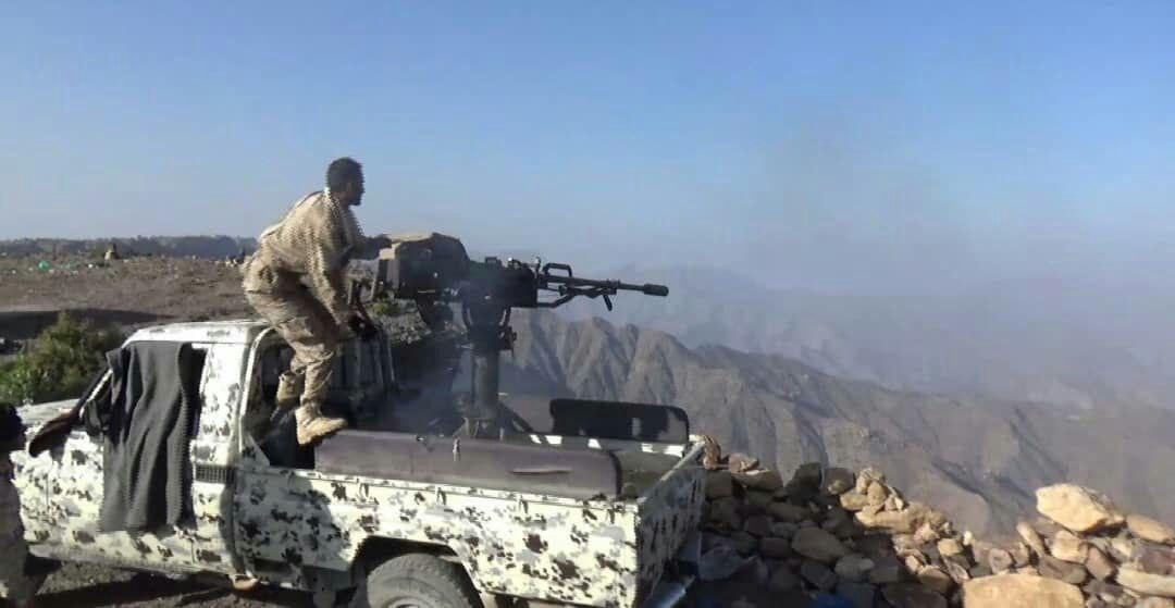 الجيش الوطني يتقدم  في جبهة الأحكوم جنوب تعز