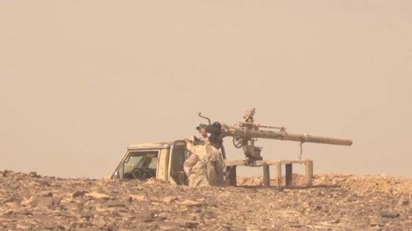 قتلى حوثيين بنيران أبطال الجيش شرق الحزم بالجوف