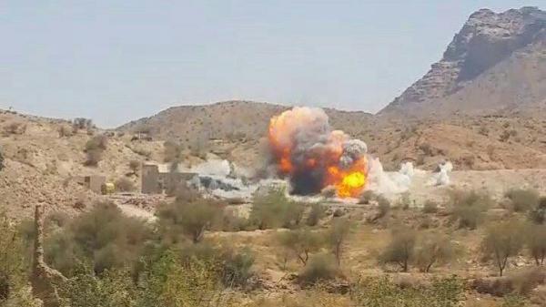 طيران التحالف يقصف معسكرات للمليشيا في البيضاء